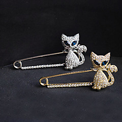 Women's Brooches Crystal Simulated Diamond Fashion Gold Silver Jewelry Party Special Occasion Birthday Gift Daily