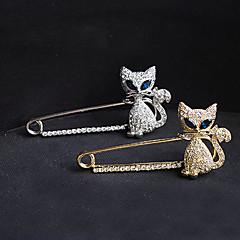 billige Motebrosjer-Dame Nåler Krystall imitasjon Diamond Mote Gull Sølv Smykker Fest Spesiell Leilighet Bursdag Daglig