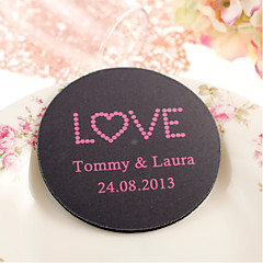 Personalized Wedding Coasters - LOVE (Set of 4) Wedding Favors