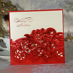 """baratos -Embrulhado e de Bolso Convites de casamento-Cartões de convite Estilo Clássico Estilo Flôr Papel de Cartão 6""""×6"""" (15*15cm)"""