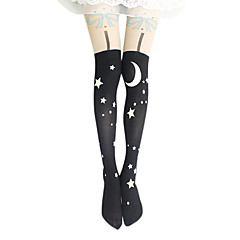 Socks/Stockings Classic/Traditional Lolita Lolita Lolita Lolita Accessories Stockings Print For Velvet