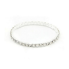 cheap Bracelets-Women's Rhinestone Tennis Alloy Jewelry Party Special Occasion Gift Daily Casual Costume Jewelry Silver
