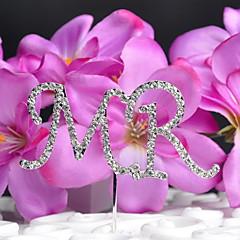 billige Kakedekorasjoner-kake topper monogram bryllup med rhinestone opp bryllupet mottak
