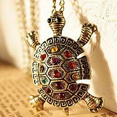 Kadın Uçlu Kolyeler Animal Shape Kaplumbağa Bakır Yapay Elmas Moda sevimli Stil Avrupa lüks mücevher Mücevher Için Günlük 1pc