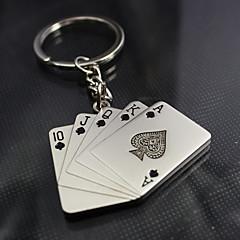 Plastik / Çinko Alaşım Anahtarlık Şekerleri-4 Adet / Set Anahtarlıklar Vegas Teması Kişiselleştirilmiş Gümüş