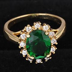 levne -Dámské Prsteny s kamenem Zásnubní prsten láska luxusní šperky bižuterie Zirkon Pozlacené Round Shape Šperky Šperky Pro Svatební Párty