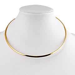 ieftine -Pentru femei Circle Shape Geometric Shape Formă stil minimalist Coliere Choker Aliaj Coliere Choker Zilnic Casual Costum de bijuterii