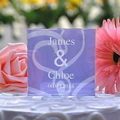 billige Kakedekorasjoner-Kakepynt Personalisert Krystall Bryllup / Jubileum Syrin Blomster Tema / Klassisk Tema Gaveeske