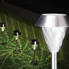 1PCS Witte LED RVS Solar Light Gazon