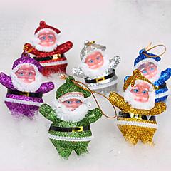Julepynt Santa Claus Doll Ornament (6 stk Set)