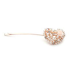 成人用 ラインストーン 合金 人造真珠 かぶと-結婚式 パーティー カジュアル ヘアクリップ