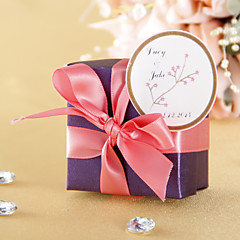 cheap Stickers, Labels & Tags-Personalized Round Favor Stickers – Red Flower (Set of 36) Wedding Favors