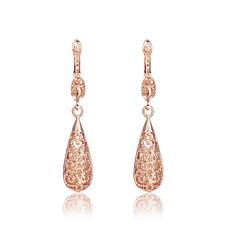 Elegant Alloy Gold Plated Women's Earrings