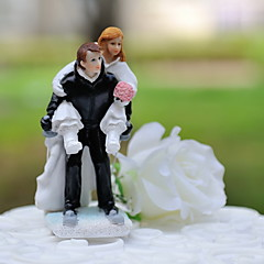 cheap Cake Toppers-Cake Topper Classic Theme Sports Classic Couple Resin Wedding with Gift Box
