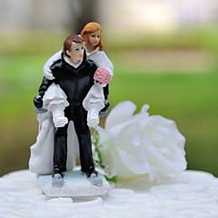billige Kakedekorasjoner-Kakepynt Klassisk Tema Sport Klassisk Par Harpiks Bryllup med Gaveeske