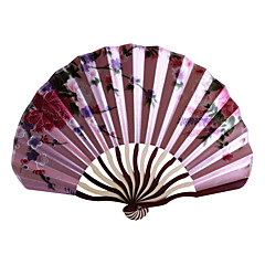 シルク ファンとパラソル-# ワンピース/セット 扇子 フローラルテーマ ピンク ライラック グリーン ブルー ブラック 38cmx21cmx1cm 2.7cmx21.5cmx1.5cm