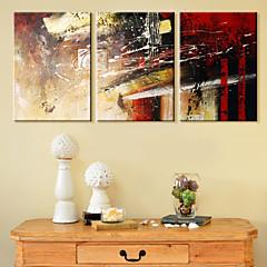 tanie Sztuka ścienna-Humor Pejzaże Zestawy Canvas Streszczenie Trzy panele Poziomy Wydrukować wall Decor Dekoracja domowa