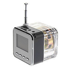 Cube Estilo Mídia Speaker com rádio FM, Cartão SD com suporte (cores sortidas)