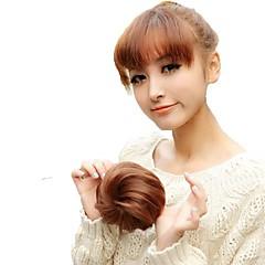 billiga Peruker och hårförlängning-högkvalitativ bröllops bride chignon bulle syntetisk 5 tum löshår hårförlängning