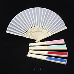 solidní barva surového hedvábí ruční ventilátor (více barev) svatební laskavosti krásná