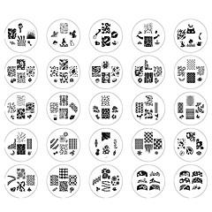 billige Neglestempling-25 Stk. Neglekunst Manikyr pedikyr Metall Abstrakt / Klassisk Daglig / stempling Plate