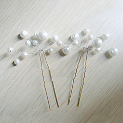 נשים דמוי פנינה כיסוי ראש-חתונה אירוע מיוחד סיכת שיער 6 חלקים
