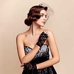 kant pols lengte handschoen bruids handschoenen feest / avond handschoenen elegante stijl