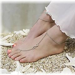 shixin® klassisk nummer åtte form legering barbeint sandal (golden, sølv, bronse) (1 stk)