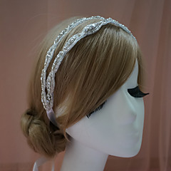 cheap Party Headpieces-Rhinestone Headbands 1 Wedding Special Occasion Headpiece