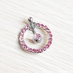 baratos Bijoux de Corps-Cristal Anel de umbigo / Piercing no ventre - Cristal Mulheres Branco / Rosa claro Bijuteria de Corpo Para Diário / Casual