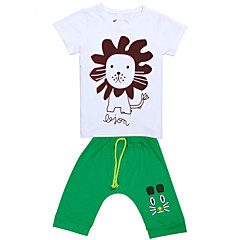 billige Jenteklær-Elganso Barne Boys Girls Summer 2014 New Style koreanske Cotton Short Sleeve T-skjorte Baby Shorts sett