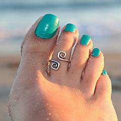baratos Bijoux de Corps-Anel de dedo do pé Original, Fashion Mulheres Prata Bijuteria de Corpo Para Presentes de Natal / Diário / Casual