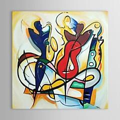 Kézzel festett Absztrakt Négyzet,Klasszikus Egy elem Vászon Hang festett olajfestmény For lakberendezési