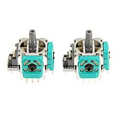のXboxのコントローラ用の2本の交換3D振動ロッカージョイスティック