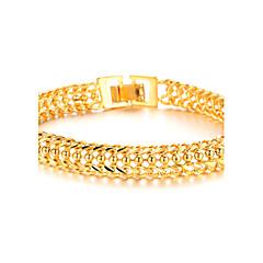 Herrn Bettelarmbänder Modeschmuck vergoldet 18K Gold Schmuck Für Hochzeit Party Alltag Normal Weihnachts Geschenke