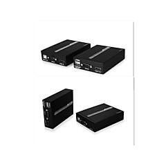 HDMI-kaapeli Jatkoadapteri toistin yksittäisinä cat5 cat5e cat6 kaapelit, 50m balun1080p hd, suojaamaton ethernet 3d, EDID, ir, kvm