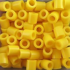 aproximativ 500pcs / sac de 5 mm margele galbene Perler siguranțe margele margele HAMA DIY puzzle eva safty materiale pentru copii