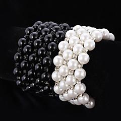 女性用 ラインストーン ブレスレット チェーン 人造真珠