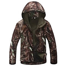 cheap Hunting & Nature-Camouflage Hunting Jacket Men's Rain-Proof / Thermal / Warm / Windproof Camouflage Winter Fleece Jacket / Hoodie / Softshell Jacket Long Sleeve for Camping / Hiking / Hunting / Fishing / Breathable
