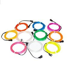 1.6 meter flexibele neon licht gloeien decoratieve 2.3mm diameter el draad met 2 aa batterijen