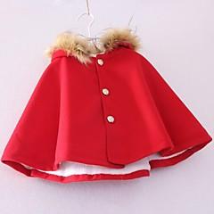 billige Jakker og frakker til piger-Trenchcoat Ensfarvet Efterår Mørkeblå Rød