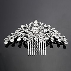 cheap Personalized Jewelry-Personalized Women's/Flower Girl's Alloy/Cubic Zirconia Headpiece - Wedding/Special Occasion Hair Combs/Flowers