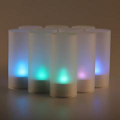 12ks zvukový senzor blikání 7 změny barvy LED svíčka světlo