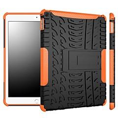 kaksi-in-one himmenevät väriraidat suunnitella pc ja silikoni kotelo jalustalla iPad (2017) Pro10.5 Pro9.7 iPad Air Air2 iPad234 mini 1234