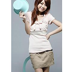 Damen Solide-Niedlich T-shirt