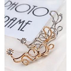 Ear Cuffs Modny sztuczna Diament Stop Flower Shape Animal Shape Motyl Silver Golden Biżuteria Na Ślub Impreza Codzienny Casual Sport