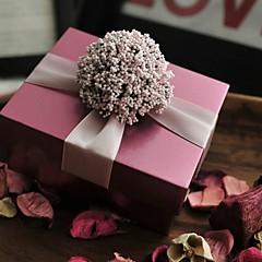baratos Suporte para Lembrancinhas-Cúbico Ferro (niquelado) Suportes para Lembrancinhas Com Flores Tiras Caixas de Presente
