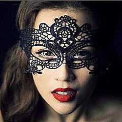 Cosplay Maske Unisex Halloween Fest/Feiertage Halloween Kostüme Schwarz Spitze einfarbig