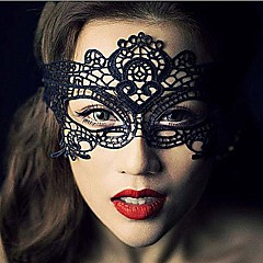 cosplay Maska Unisex Halloween Festival/Svátek Halloweenské kostýmy Černá Krajka Jednobarevné