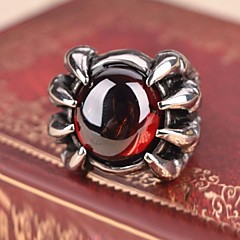 billige Motering-Herre Rubin / Syntetisk Ruby Statement Ring / Ring - Vintage, Fritid, Europeisk Til